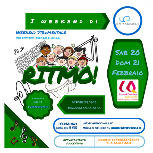 I weekend di Cantascuola 3