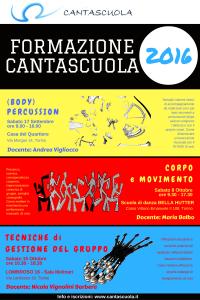Formazione Cantascuola 2016